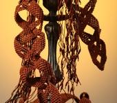 Ремни, пряжки, пояса - Поясок женский объемный, макраме, ручная работа