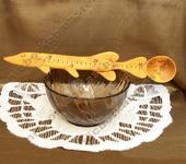 Ложки - Деревянная ложка - линейка ручной работы - подарок рыбаку.