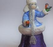 Народные куклы - Ватная Снегурочка и снегирь