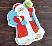 Развивающие игрушки - Пазл в рамке «Дед Мороз»