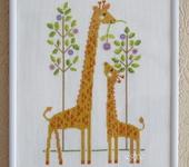 Вышитые картины - Жирафы