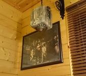 Светильники, люстры - Бра из состаренного дерева с элементами художественной ковки