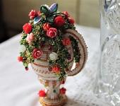 Элементы интерьера - Пасхальное яйцо с розами