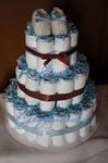 Для новорожденных - Торт из памперсов!