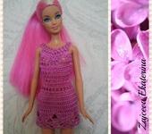 Одежда для кукол - Платье Нежность(сереневое)