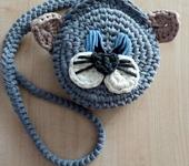 Сумки, рюкзаки - Сумка-кот из трикотажной пряжи