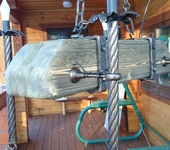 Светильники, люстры - Светильник из состаренного дерева  с элементами ковки