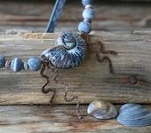 Колье, бусы - Колье «Seashell»