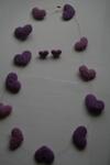 Колье, бусы - водопад сердец