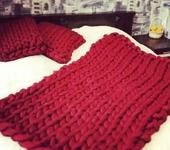 Подушки, одеяла, покрывала - Пледы,вяжу руками