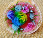 Мыло ручной работы - Букет с розой.