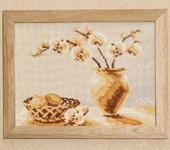 Вышитые картины - Натюрморт с орхидеей