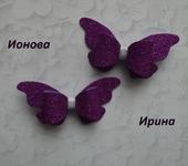 Украшения для волос - Заколки - бабочки